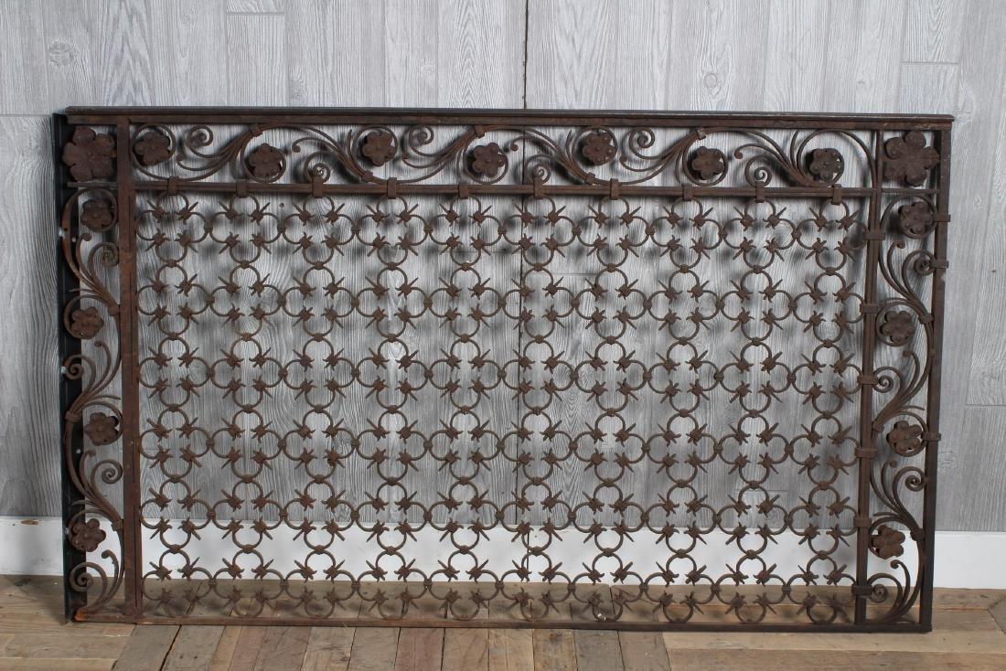 2 Yellin Style Wrought Iron Panels