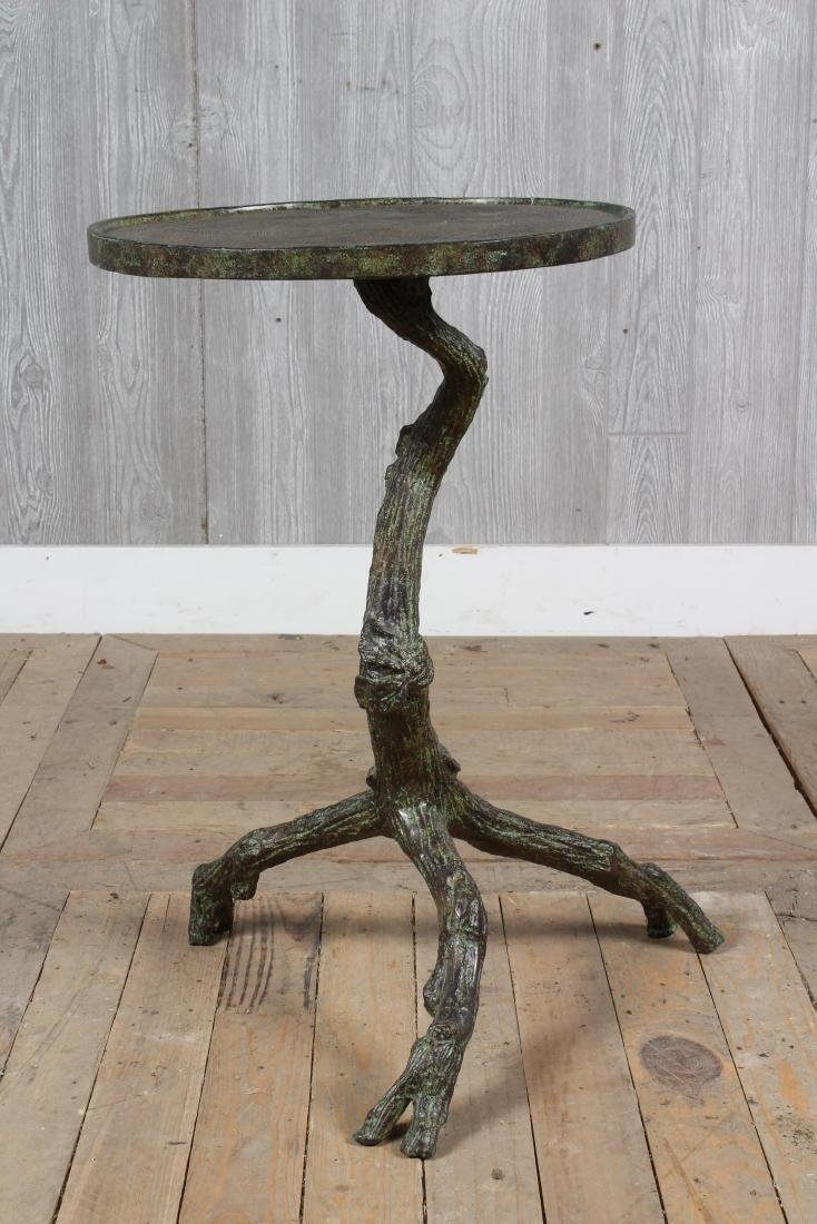 Cast Metal Faux Bois Garden Table