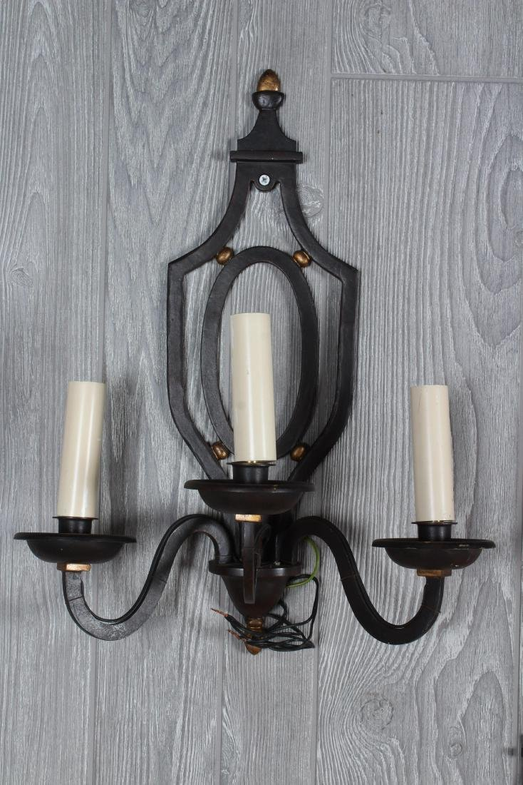 Set of 4 Regency Style Wrought Iron Sconces