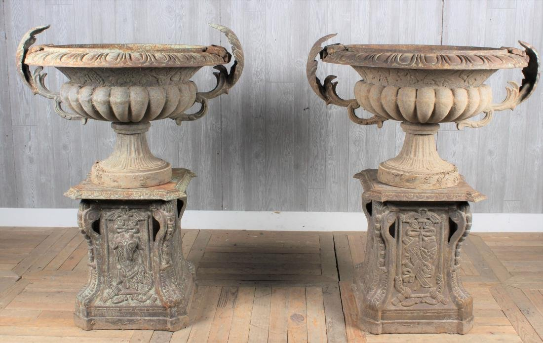 Large Scale Cast Iron Garden Urns