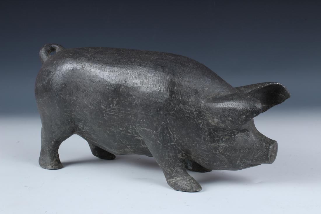 Lead Pig Figure