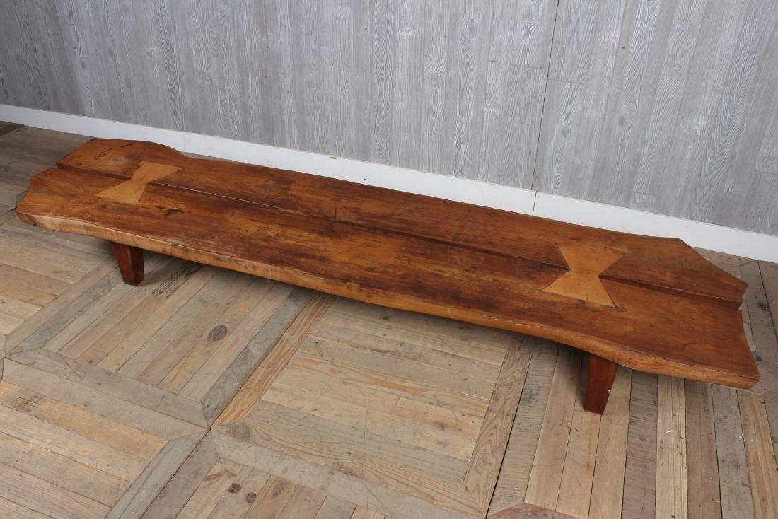 Live Edge Walnut Bench