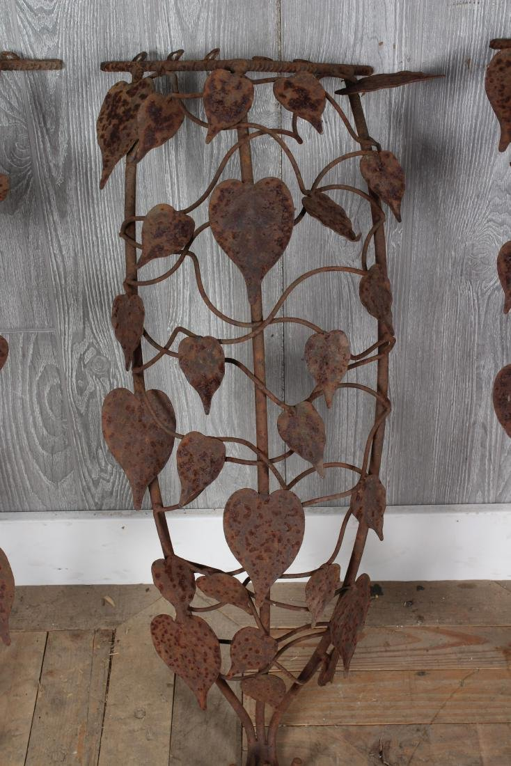 4 Floral Wrought Iron Mounts