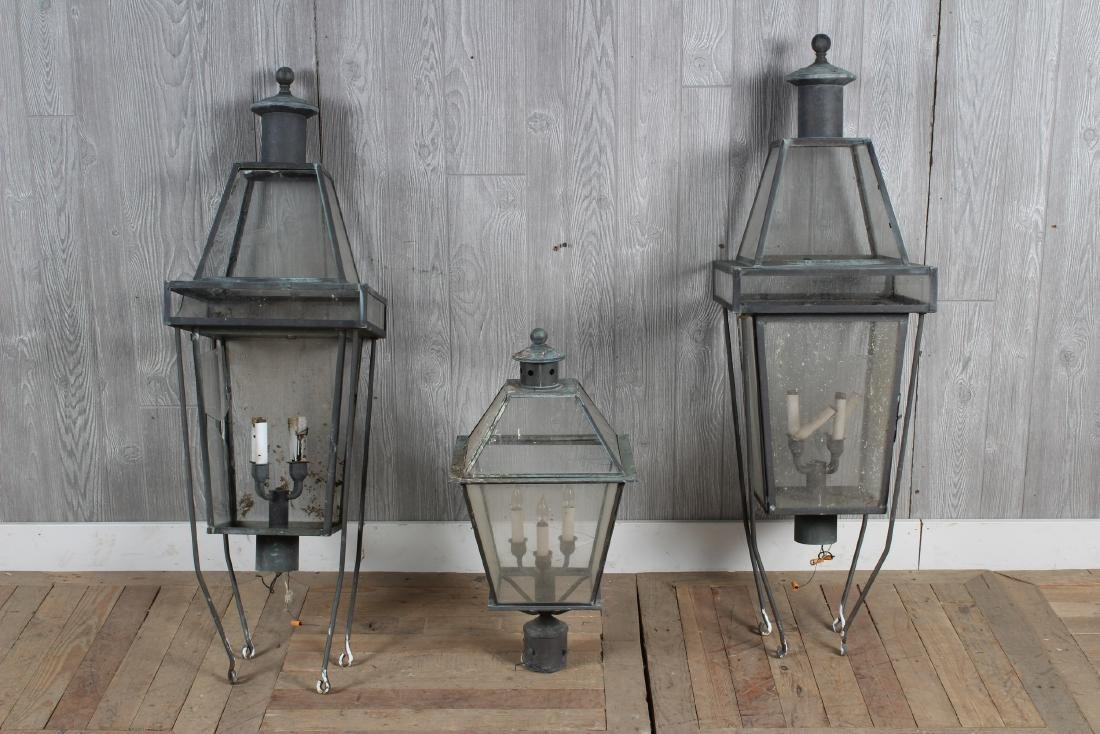 3 Copper Lanterns