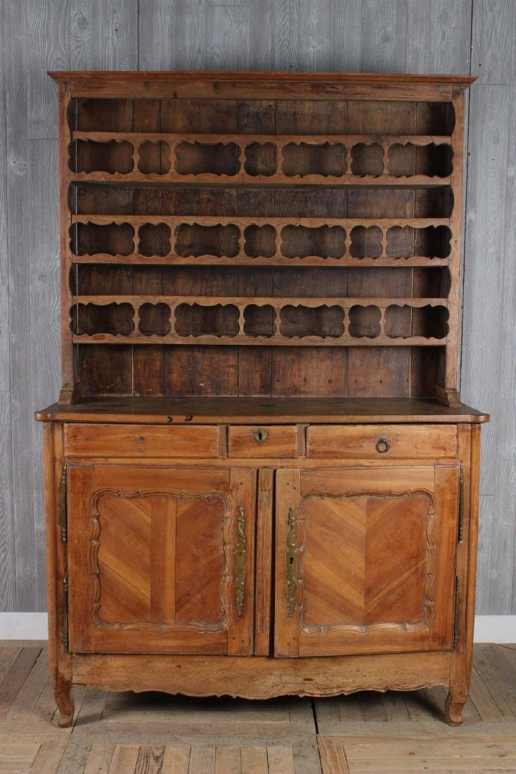 18th C French Buffet Deux Corps