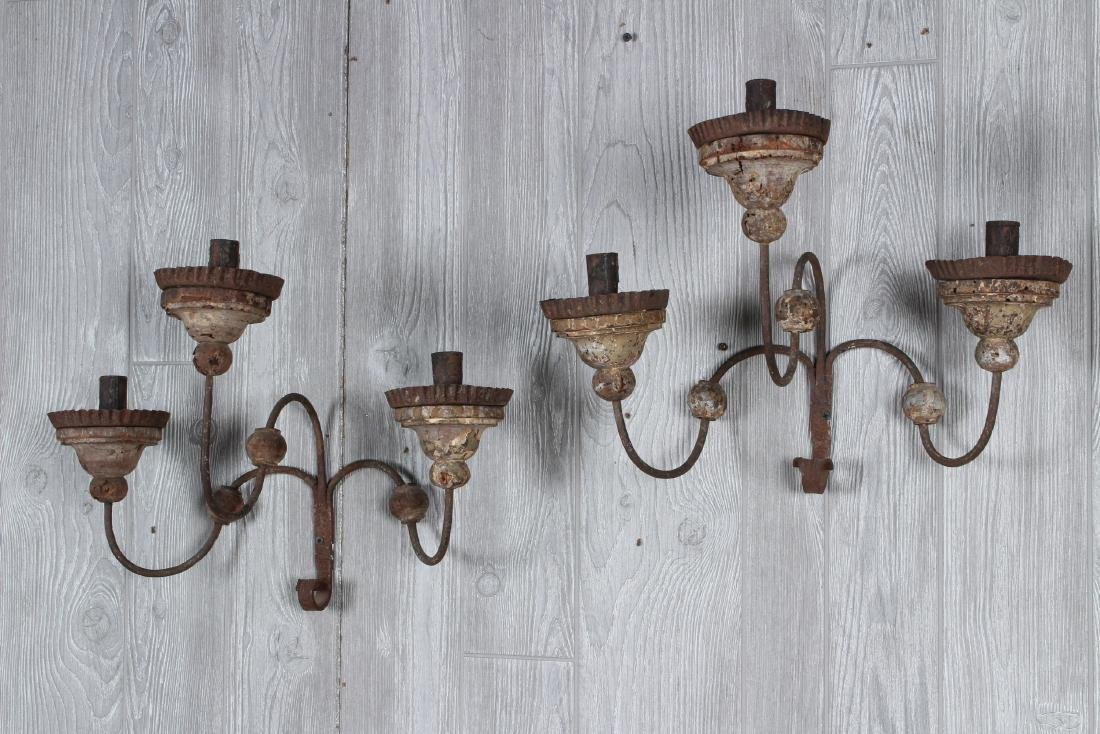 Early Wood and Iron Sconces