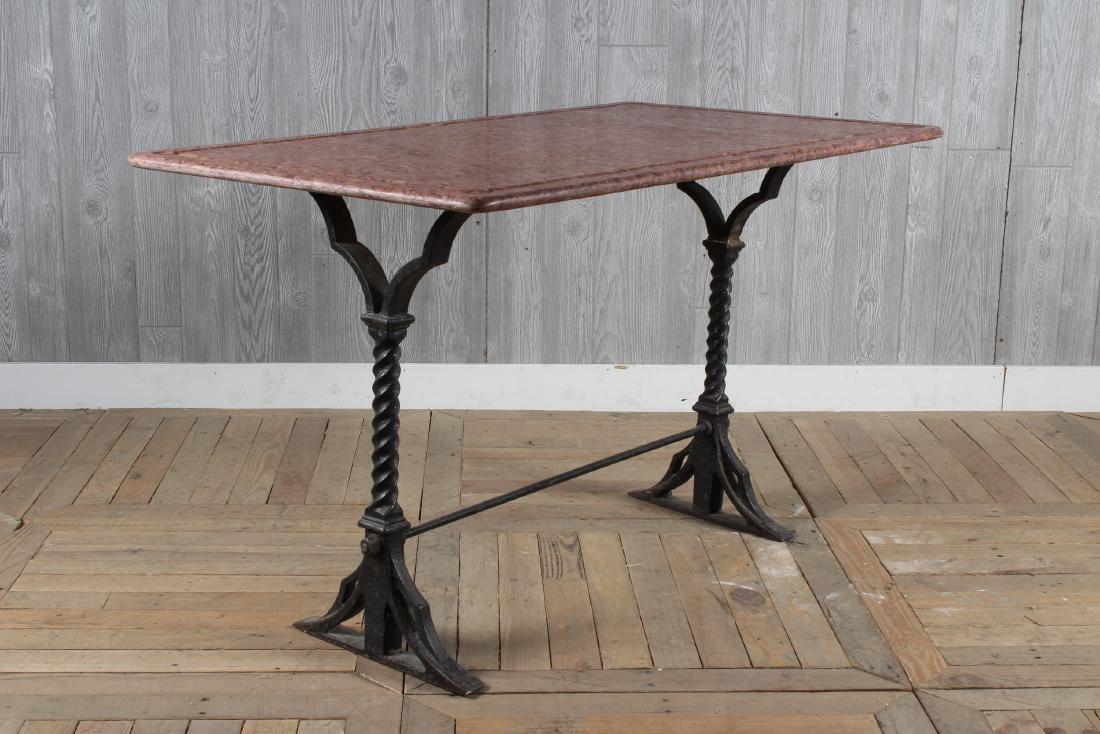 19th C Wrought Iron Garden Table