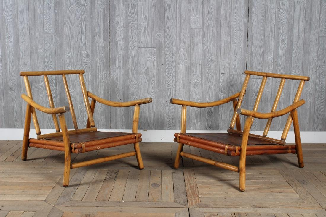 Pair McGuire Lounge Chairs