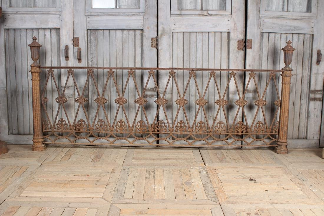 19th C American Victorian Cast Iron Fence