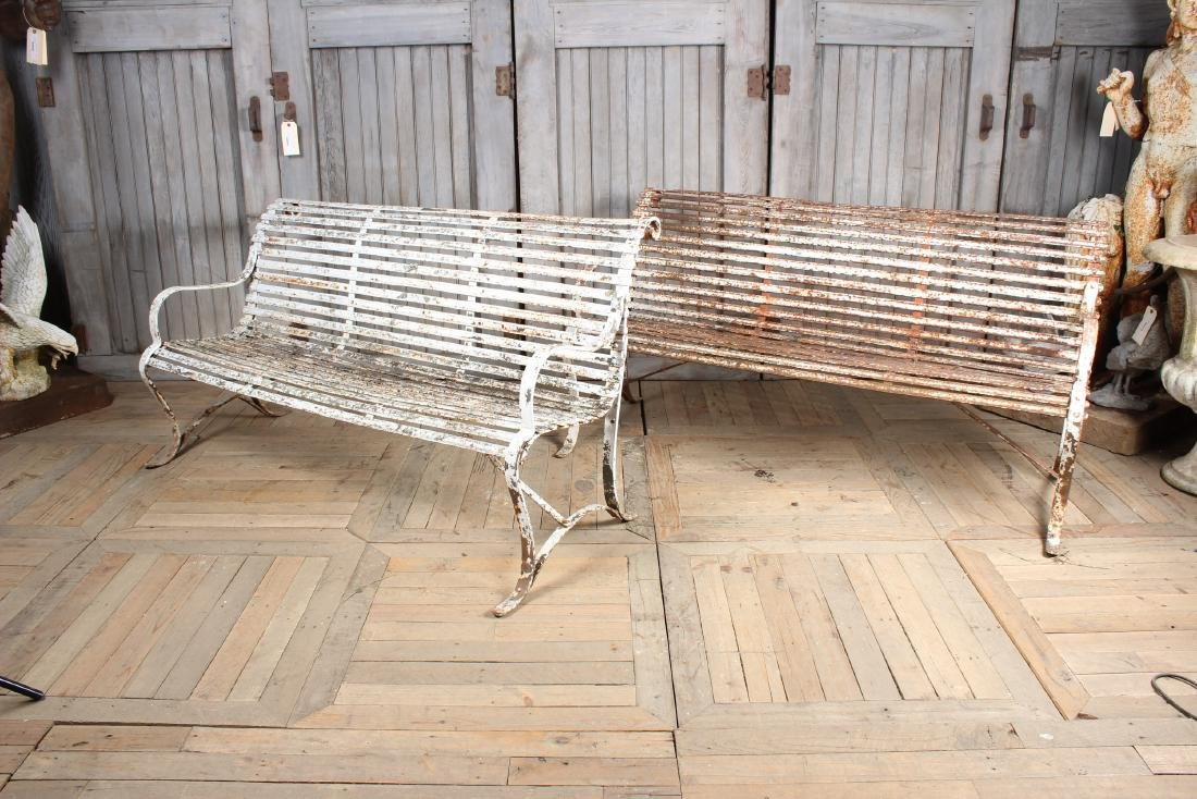 Pair Regency Style  Strap Benches