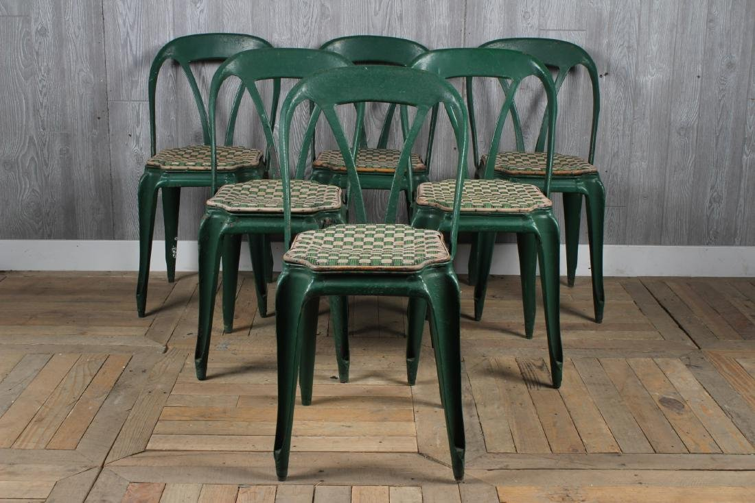 6 French Metal Cafe Chairs
