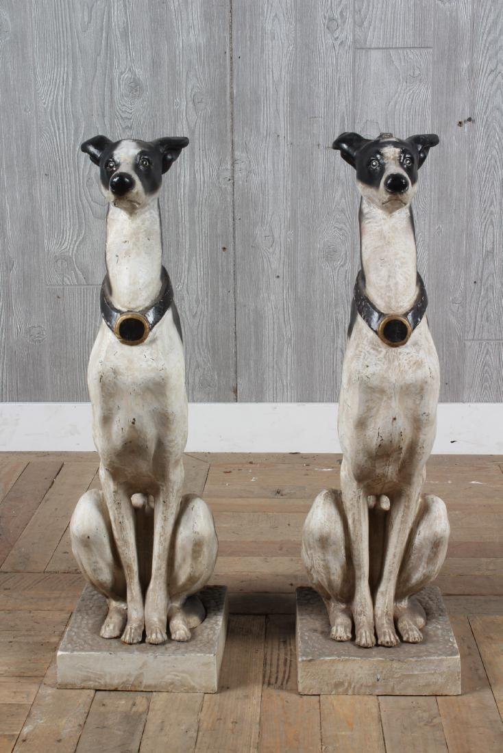 Painted Cast Iron Whippets