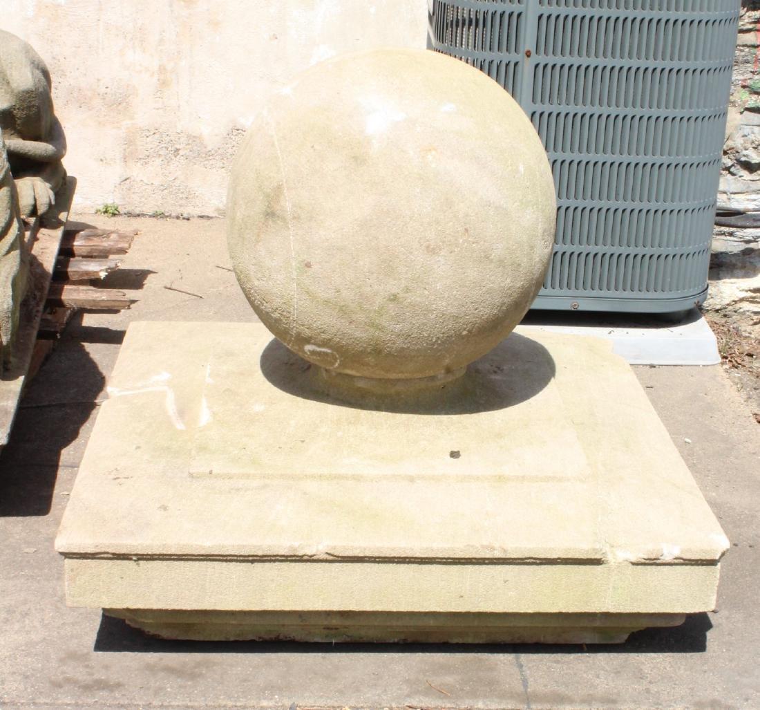 Limestone Capstone Finial
