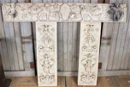 Components of a 19th C Italian Marble Mantle