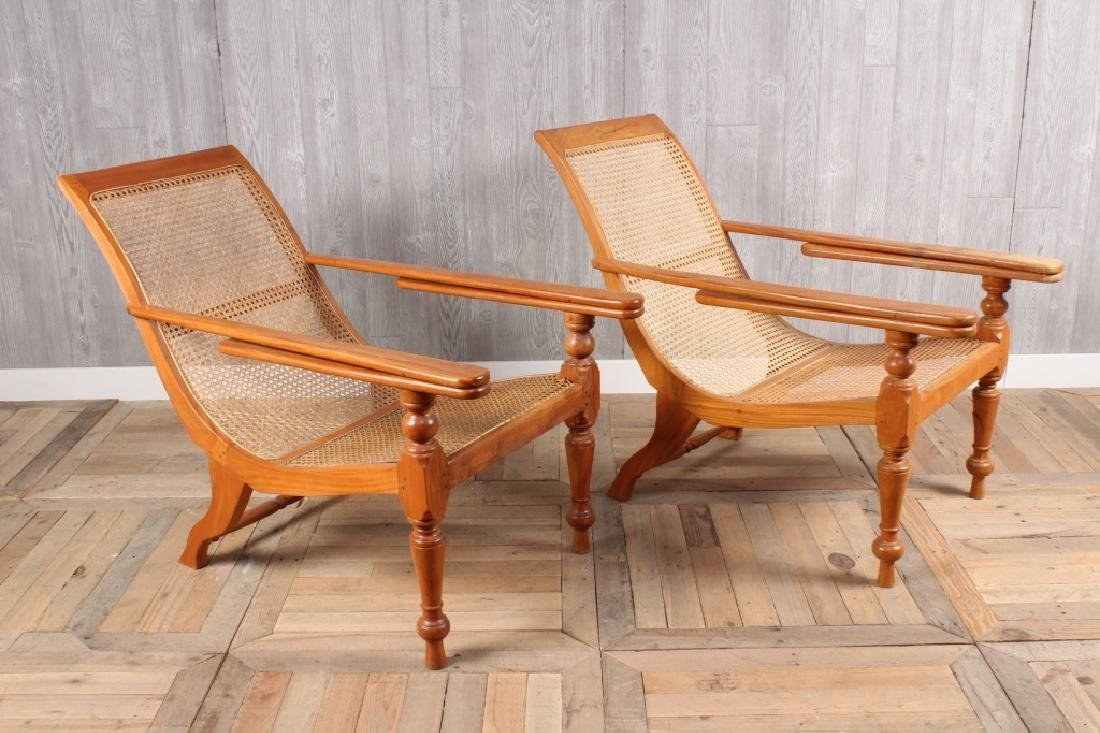 2 English Campaign Style Lounge Chairs
