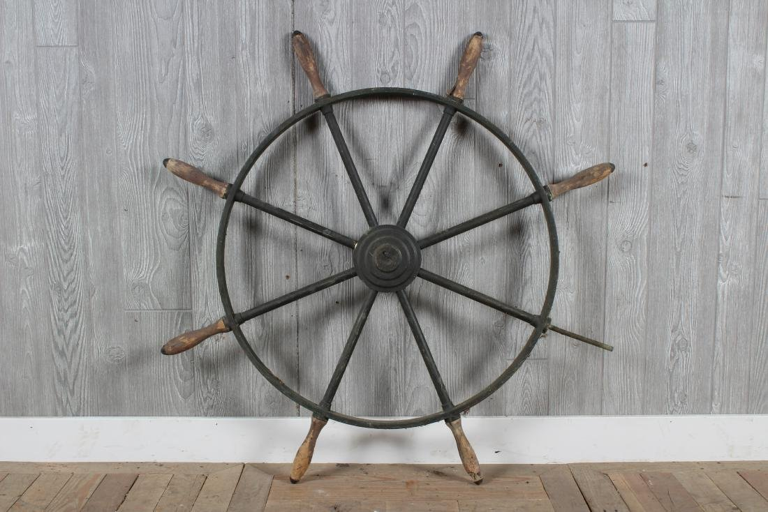 Bronze Ship's Wheel