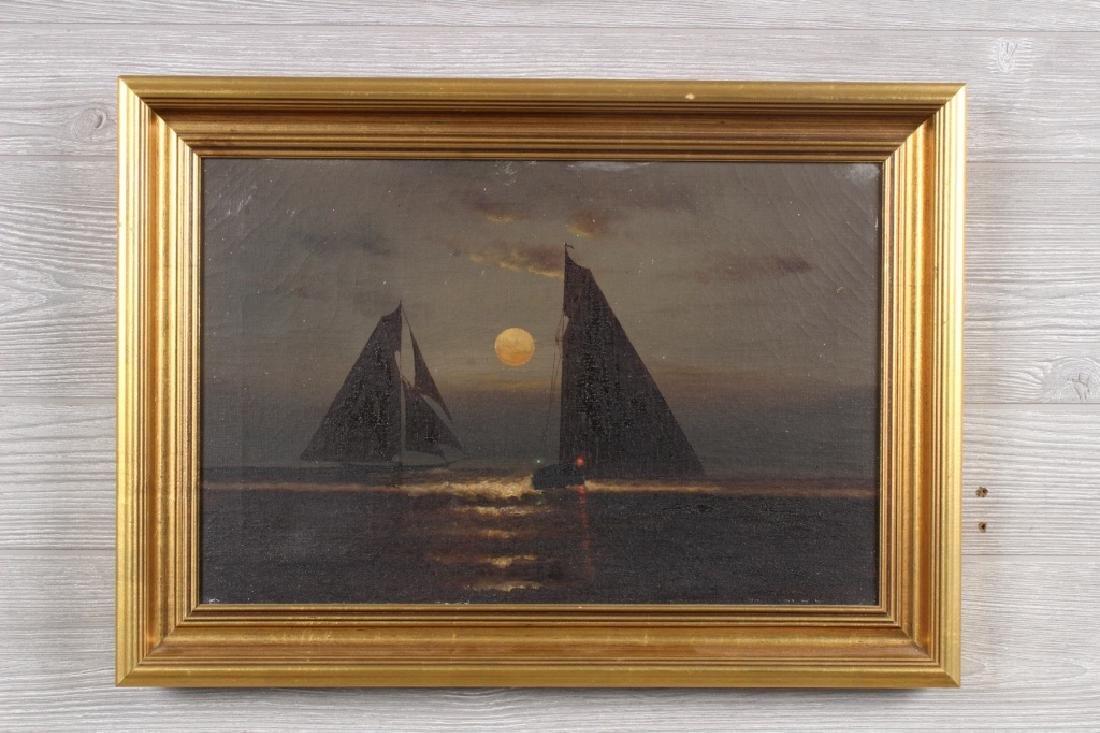 Charles Dorion Nocturne Seascape Painting
