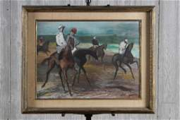 John Groth (American, 20th C) Jockey Painting