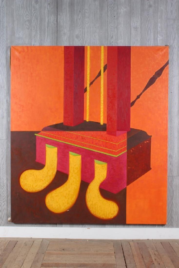 Emily Hixon Op Art Piano Pedals Painting