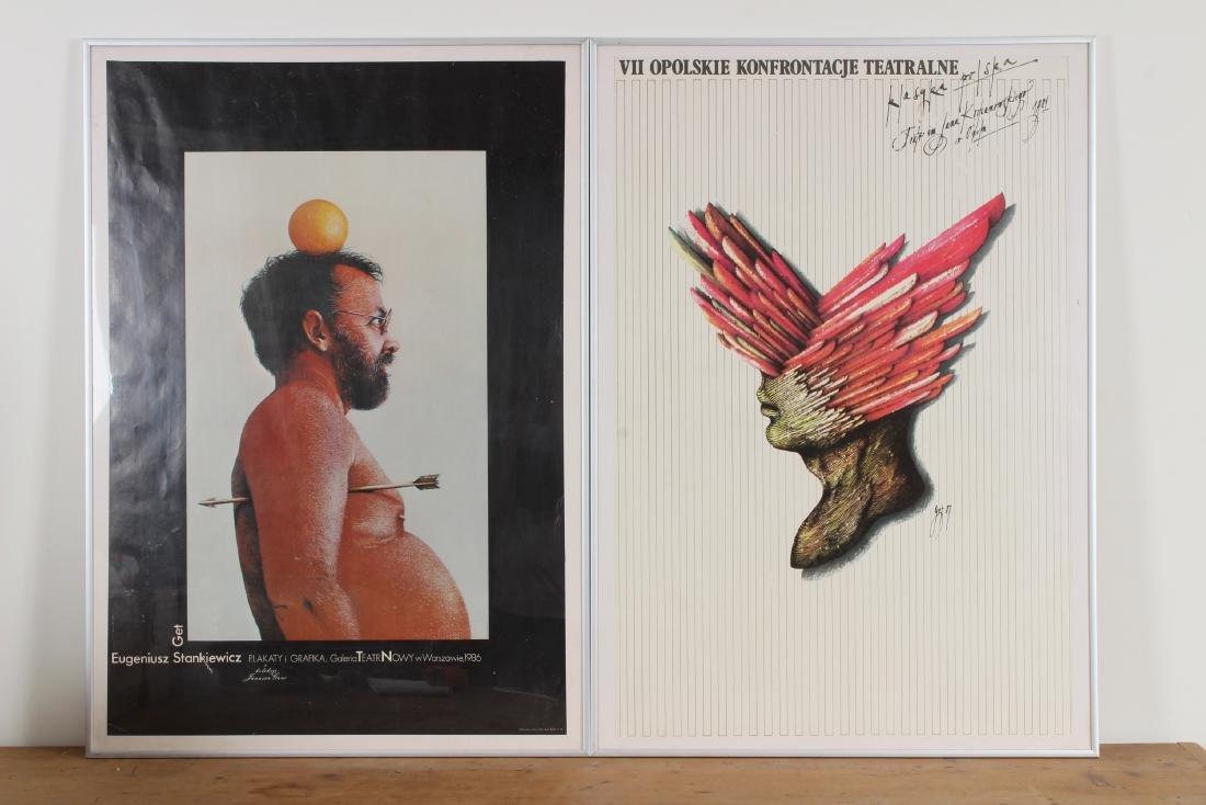 2 Polish Art Exhibition Posters