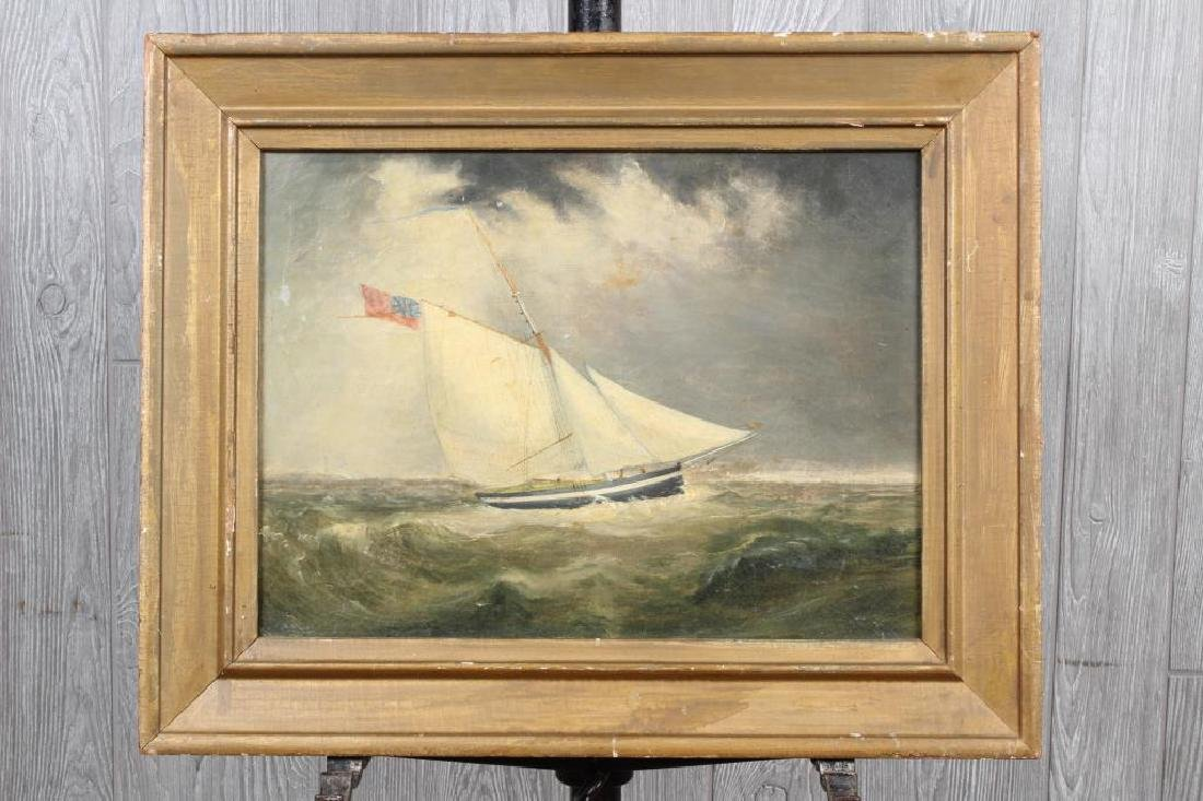 Antique Schooner Painting