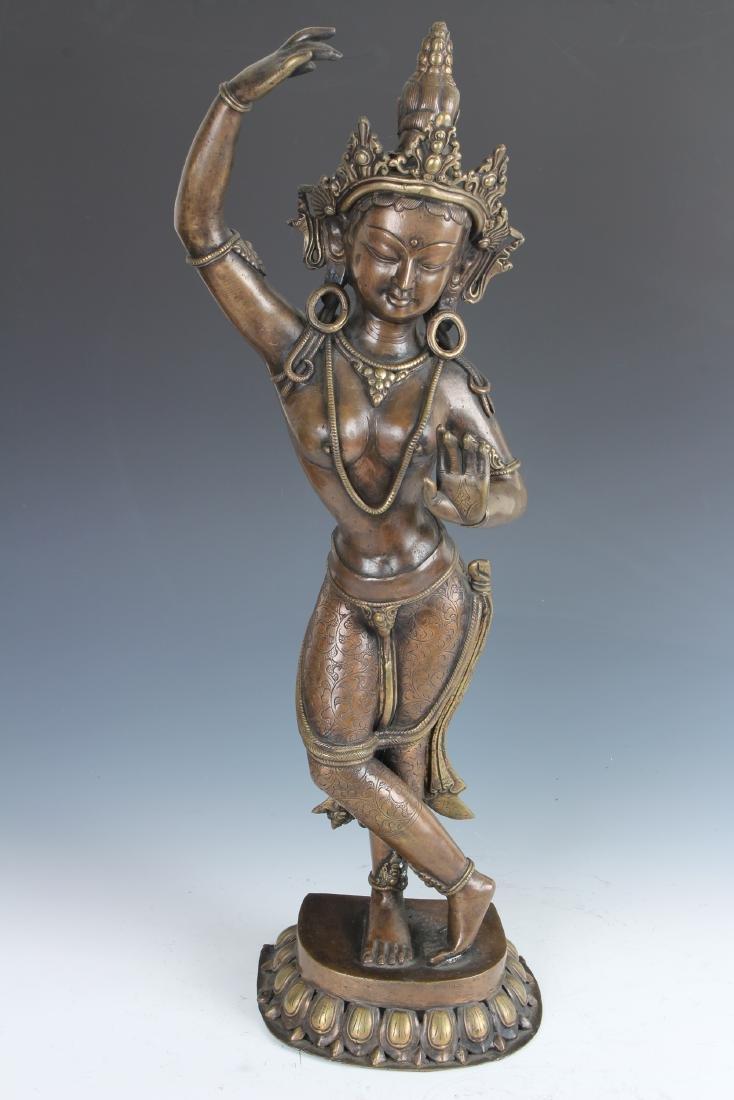Contemporary Bronze Nepalese Tara