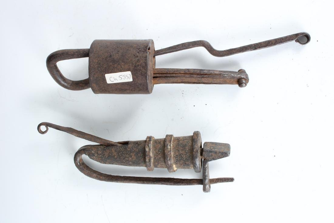2 Antique Asian Traditional Locks - 2