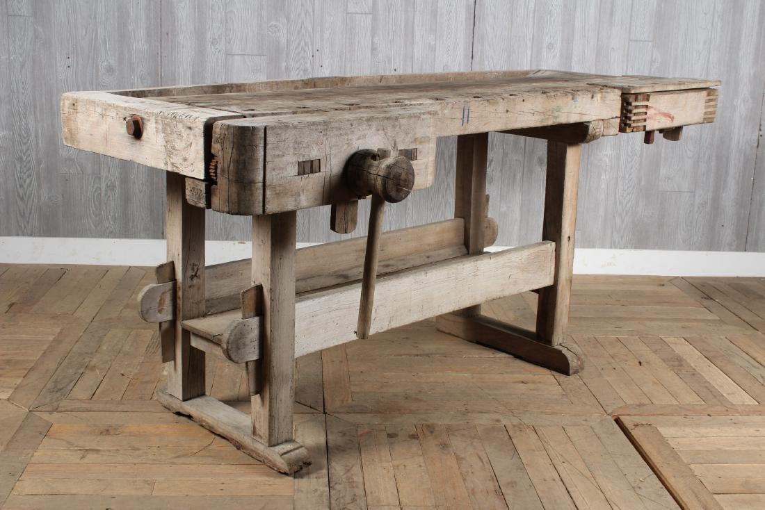 Antique Carpenter's Bench - 4