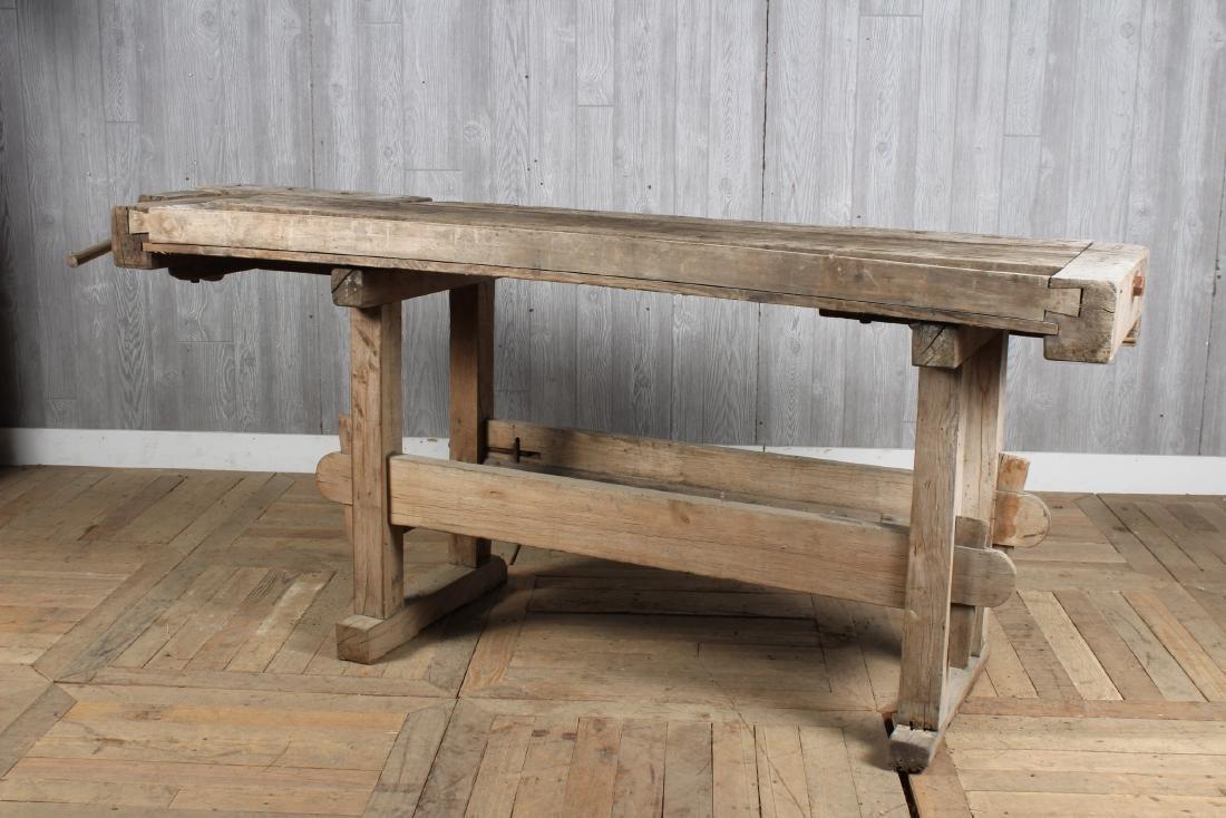 Antique Carpenter's Bench - 6