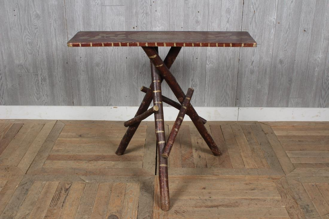 Rustic  Adirondack Twig Console Table