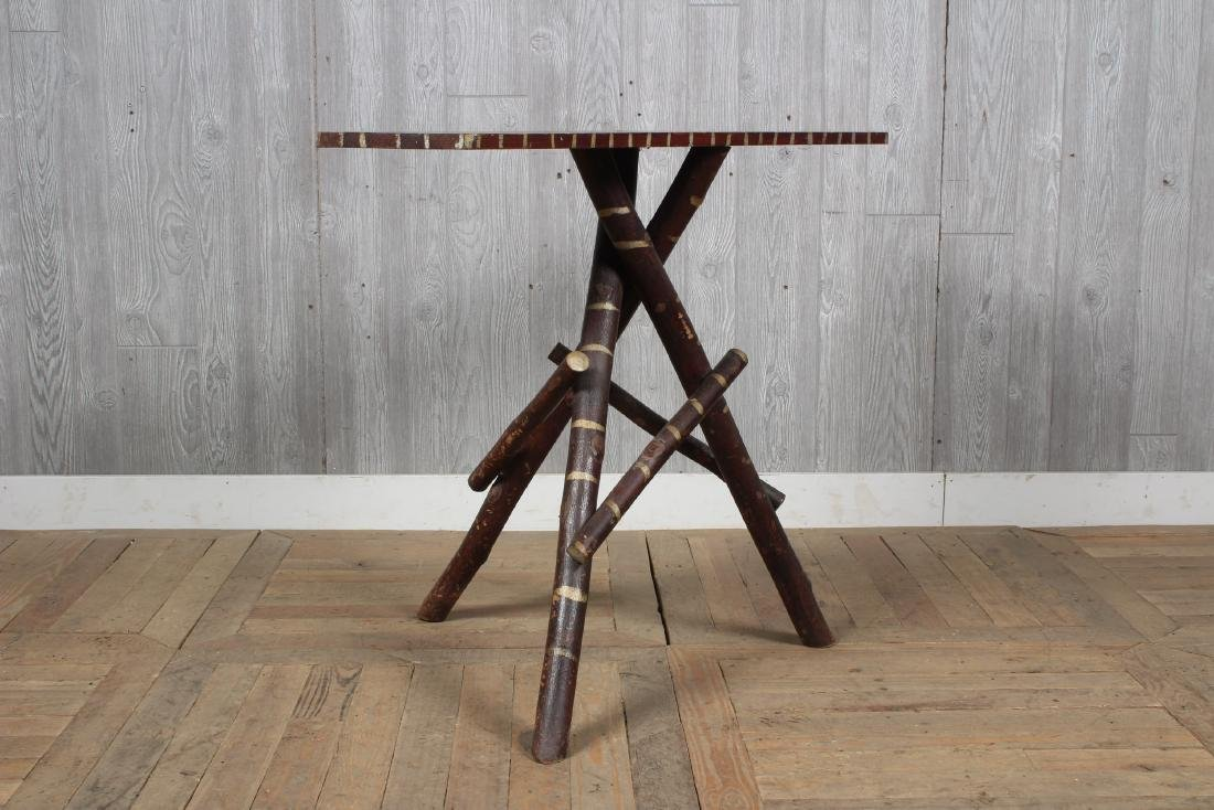 Rustic  Adirondack Twig Console Table - 4