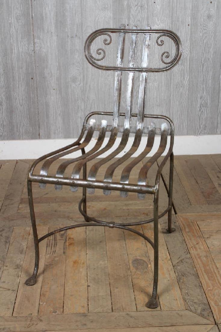 French Strap Work Chair