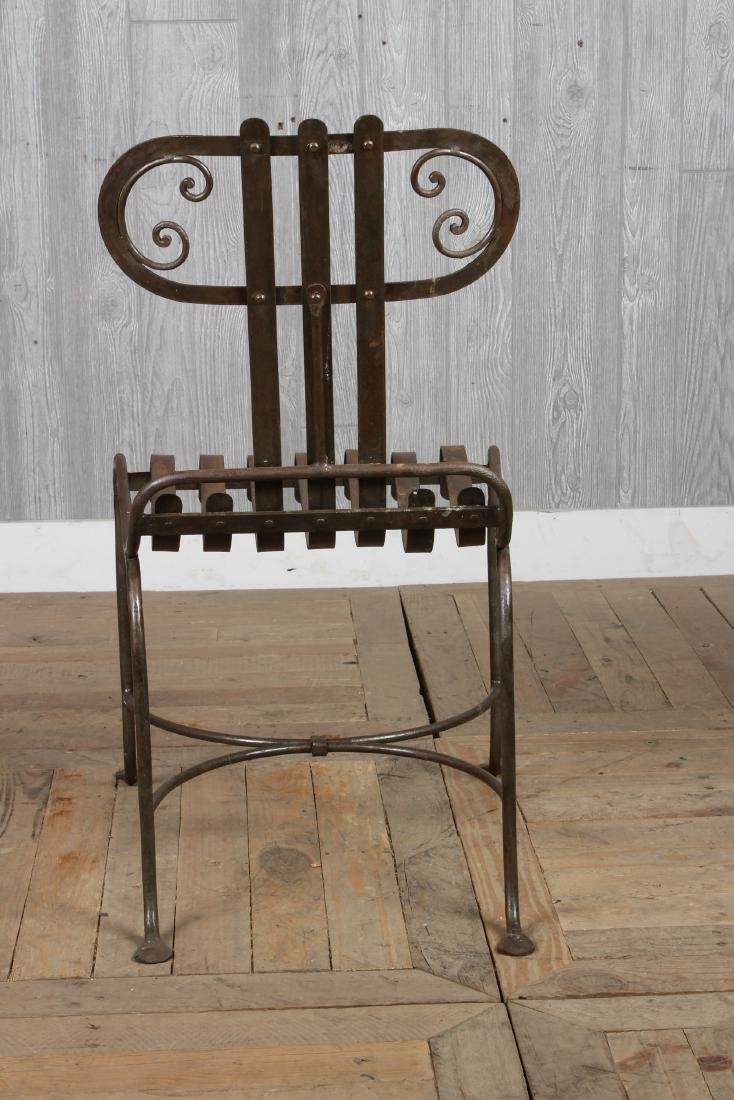 French Strap Work Chair - 4