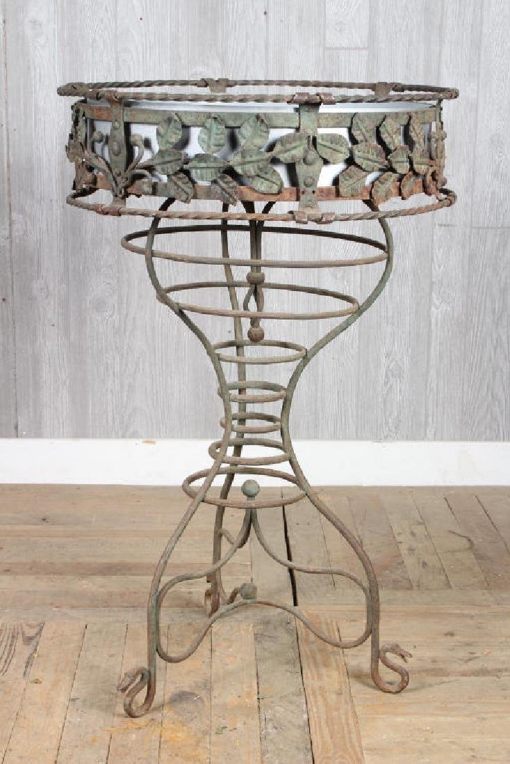 Early 20th C Wrought Iron Planter