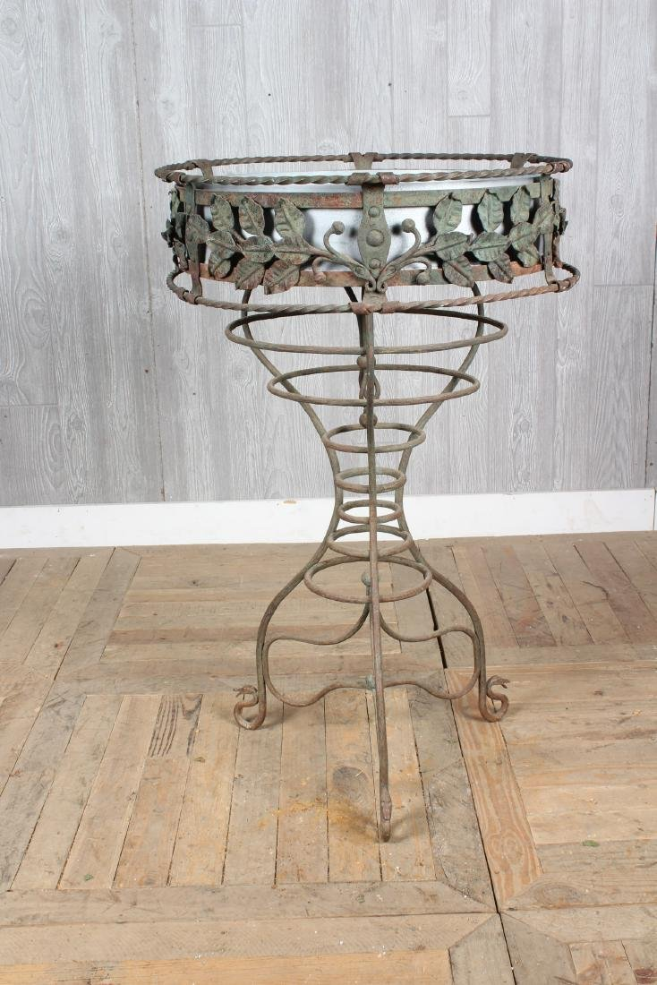 Early 20th C Wrought Iron Planter - 4