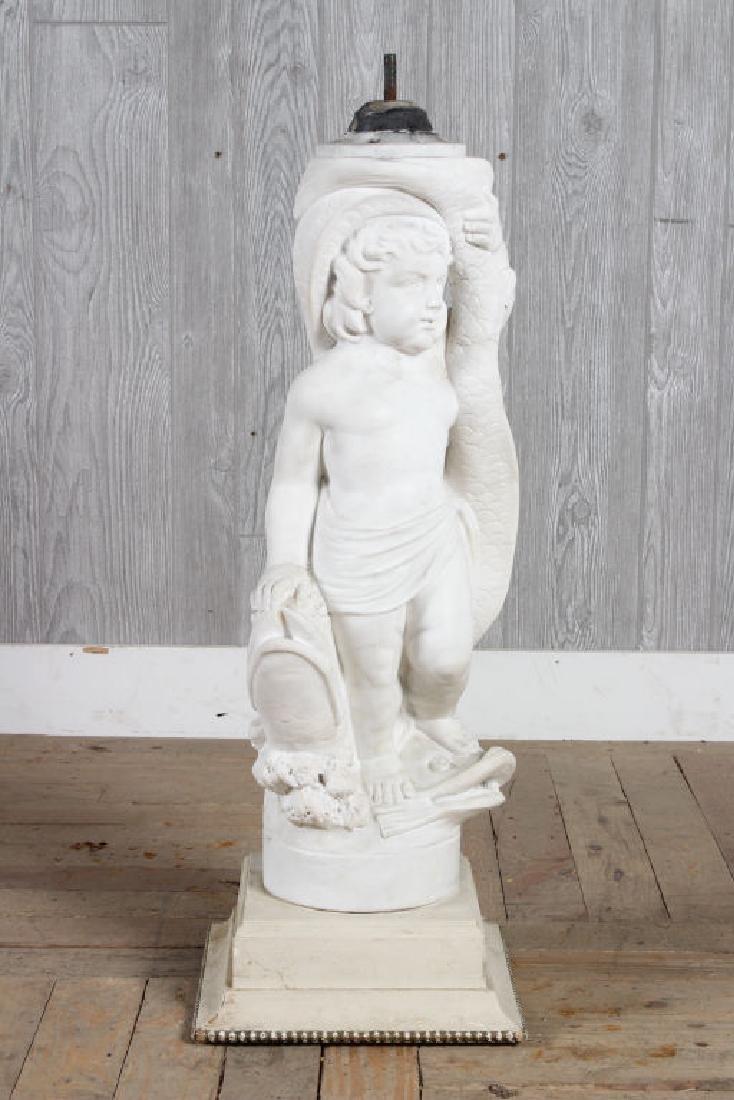 Marble Fountain Figure