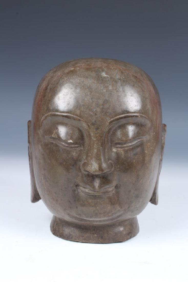 Soapstone Buddha Head