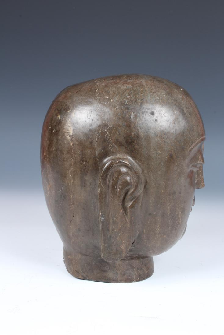 Soapstone Buddha Head - 2