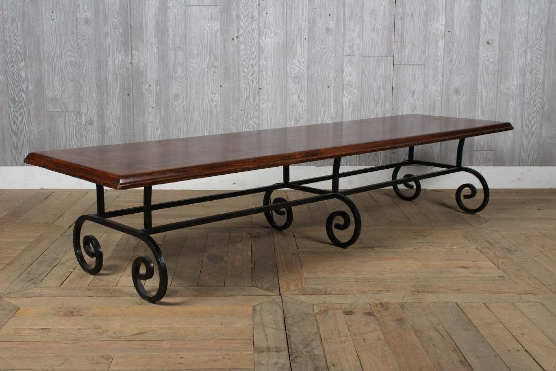 Wrought Iron Coffee Table Base - 4