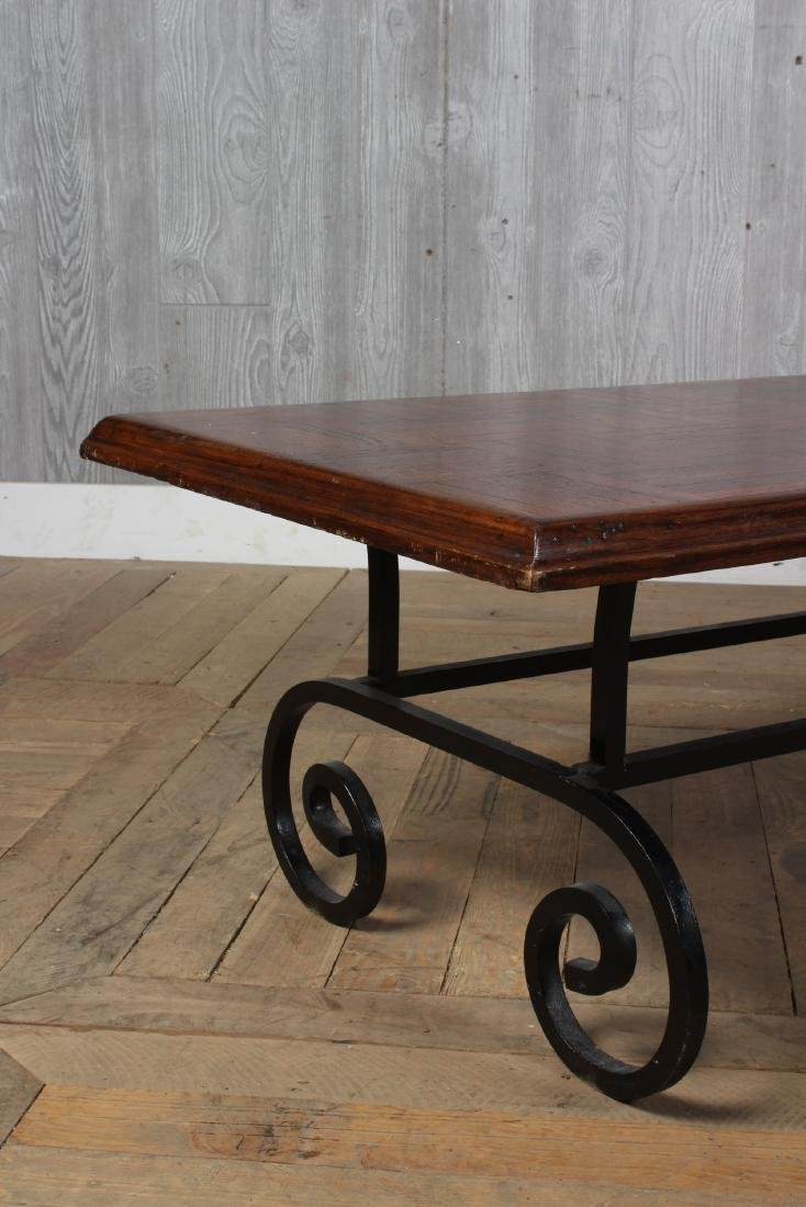 Wrought Iron Coffee Table Base - 5