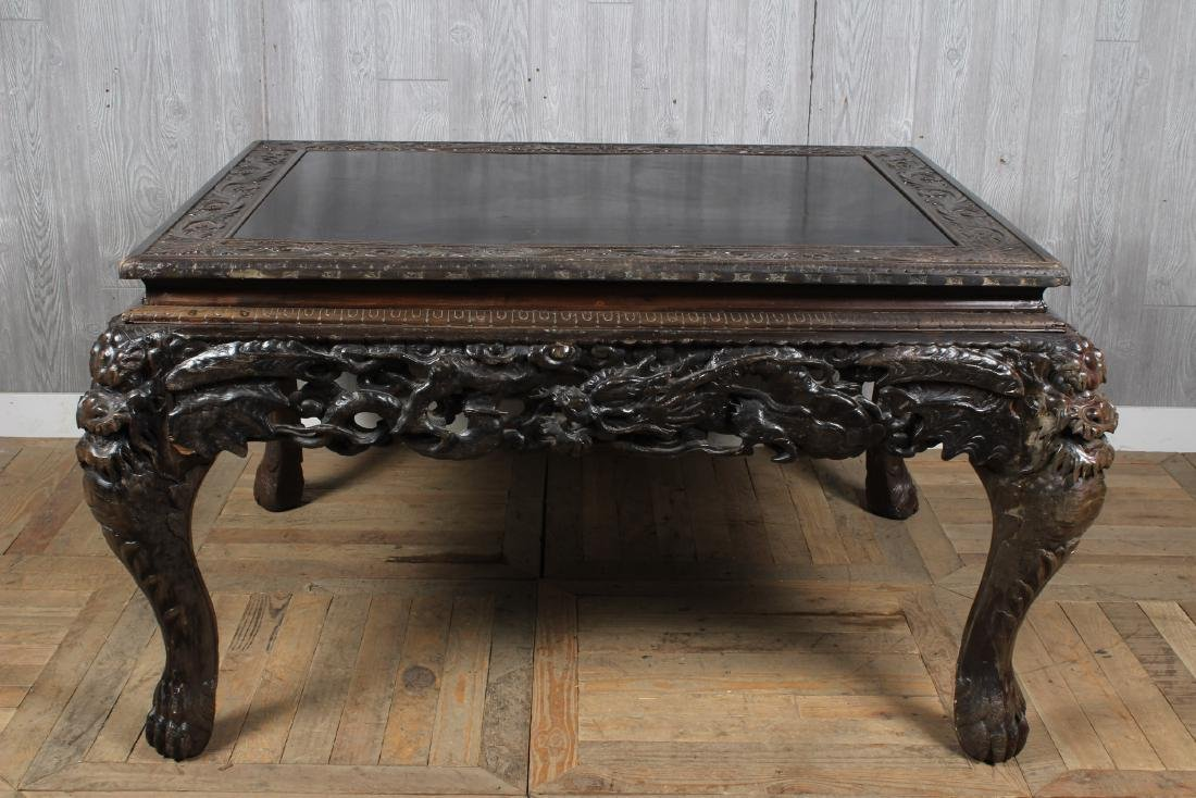 Carved Dragon Leg Table