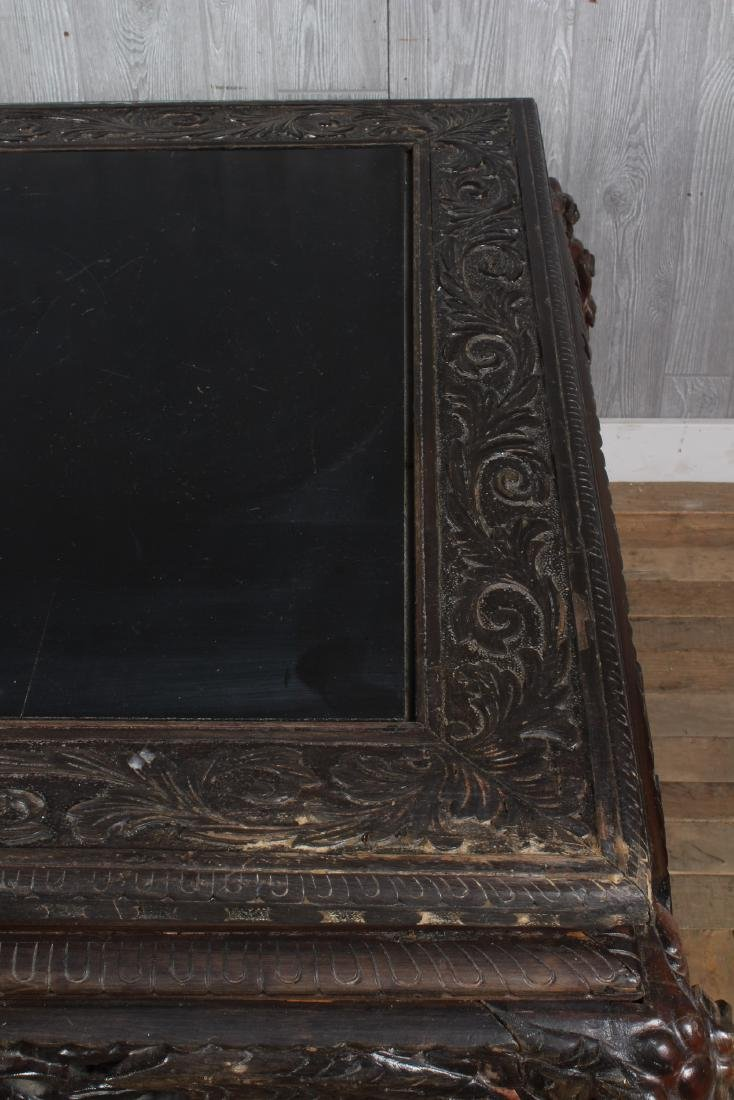 Carved Dragon Leg Table - 2