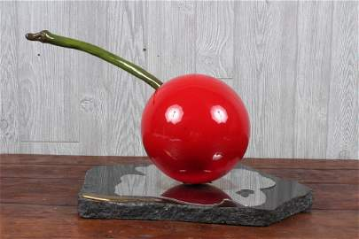 Jeffrey Bell Metal Art Sculptural Cherry