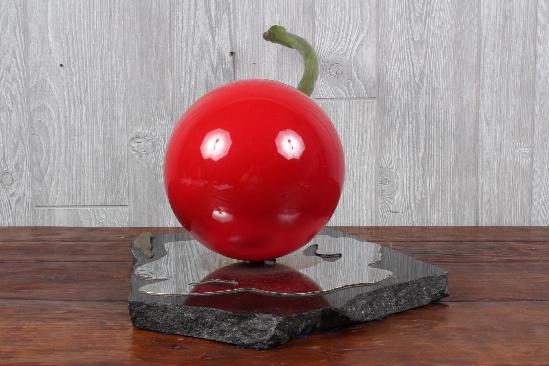 Jeffrey Bell Metal Art Sculptural Cherry - 5