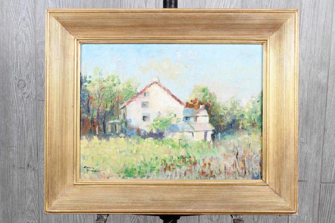 Homestead Painting Signed Sargent