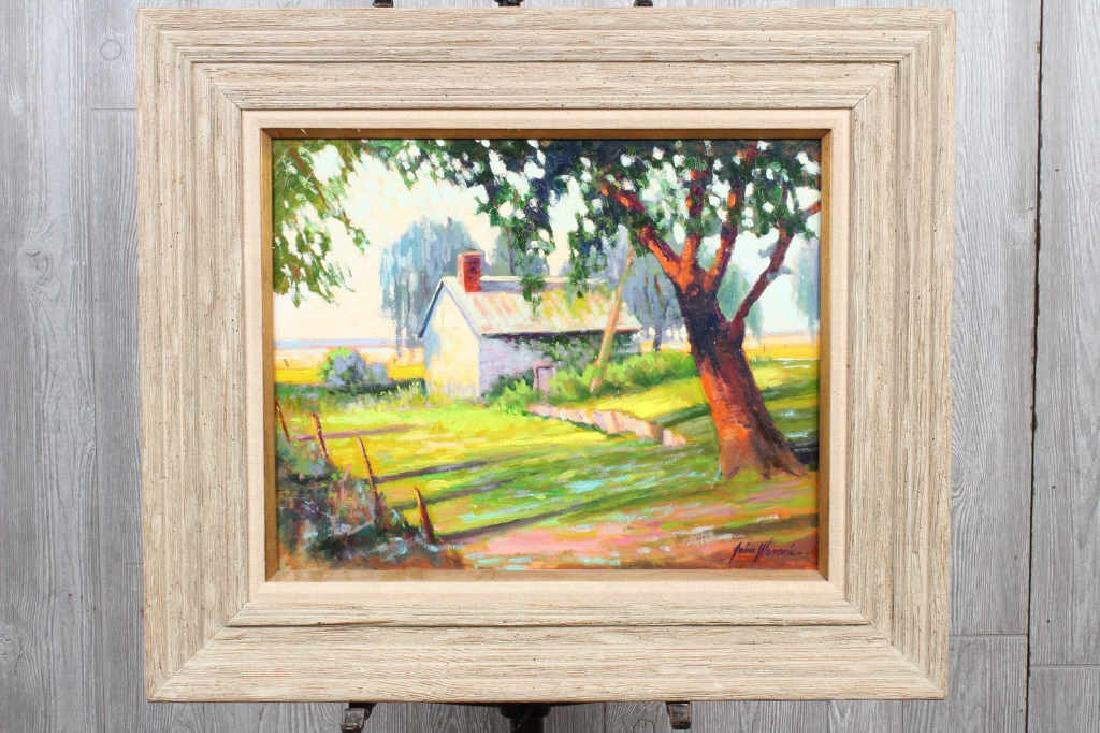 Early 20th C Signed Country Lane Scene