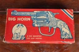 Vintage Kilgore Big Horn Cap Gun Pistol in Box