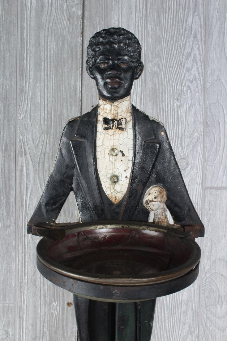 Black Americana Butler Smoking Stand - 2