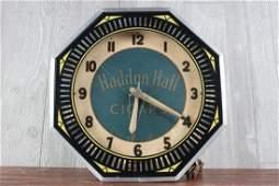 Haddon Hall Cigars Neon Advertising Clock