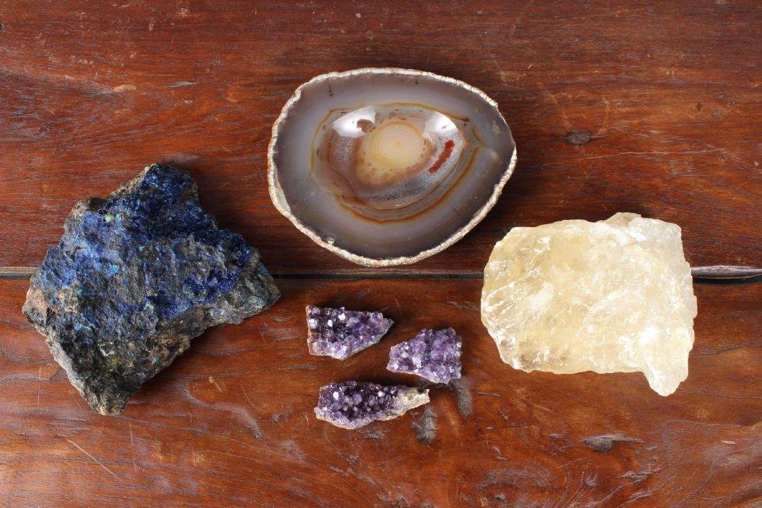6  Miscellaneous Geodes and Gemstones Specimens